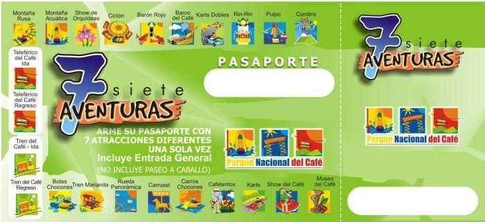 Imagen de un Pasaporte para entrar al Parque del Café