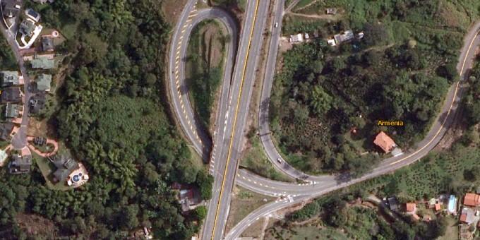 Fotos Satelitales de la Autopista del Café