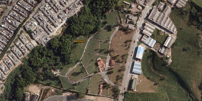 Fotos Satelitales del Cementerio Jardines de Armenia