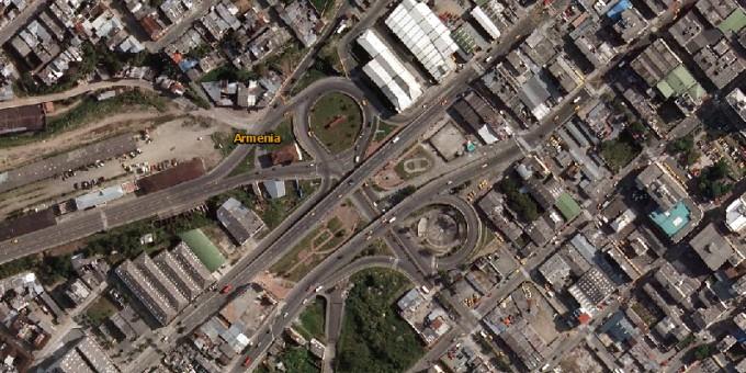 Puentes de la Cejita - Fotos satelitales de Armenia