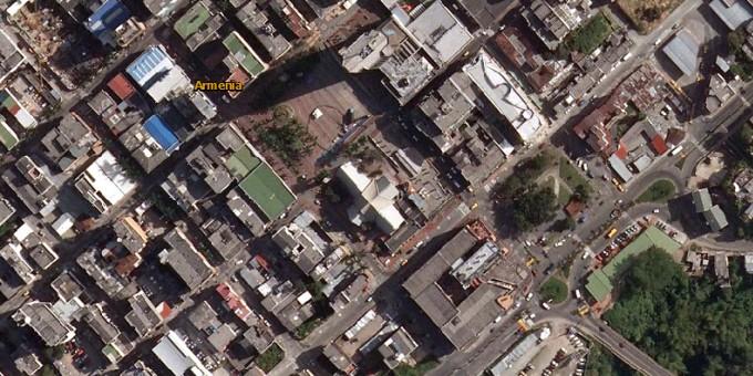 Plaza Bolívar - Fotos satelitales de Armenia