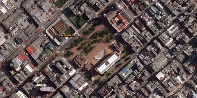 CAM, Centro Administrativo Municipal - Fotos satelitales de Armenia
