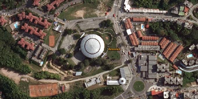 Fotos Satelitales del Coliseo del Café