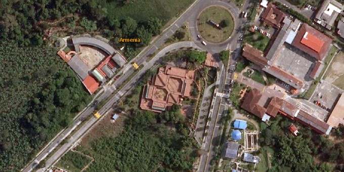 Fotos Satelitales del Museo del Oro Quimbaya