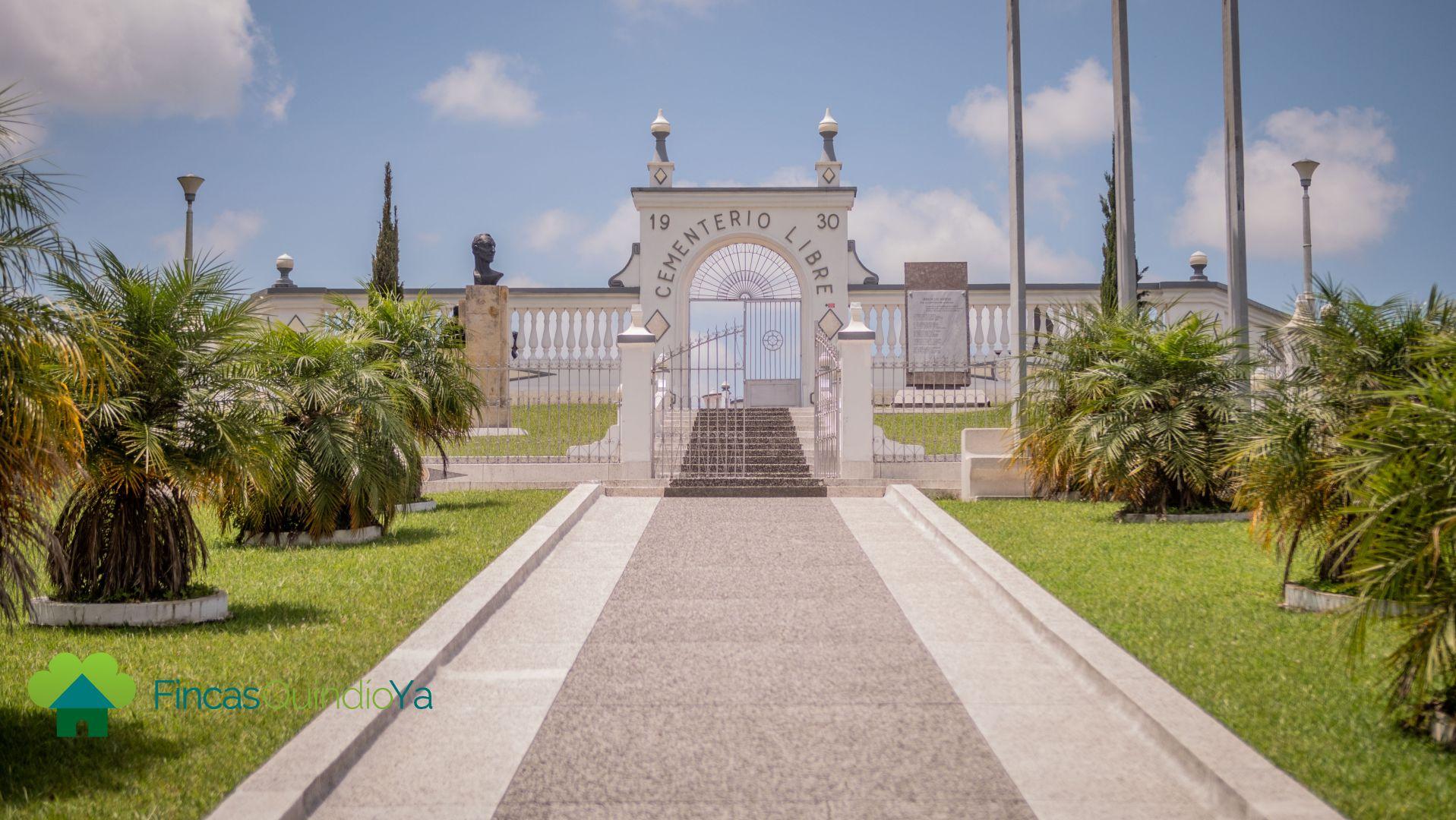Foto de la entrada al cementerio