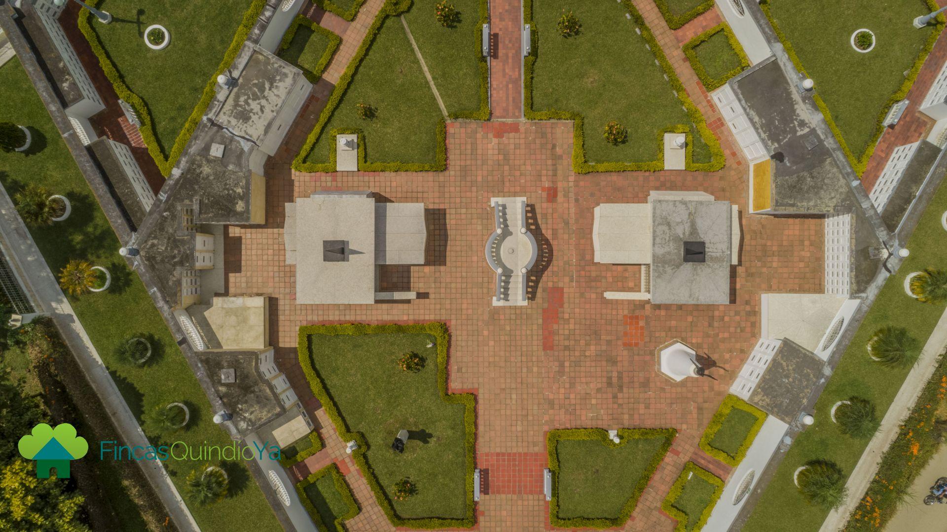 Imagen aerea del cementerio libre